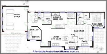 simple four bedroom house plans 4 bedroom house plans kit homes australian kit homes