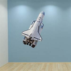 wall decal space shuttle rocket full colour by With nice space shuttle wall decal