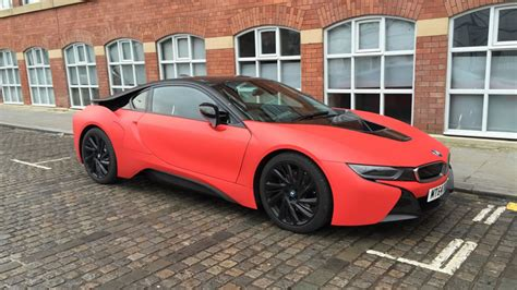 2015 Bmw I8 Wrapped In Matte Red  Matte Red Color, Front