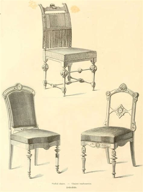 img dessins meubles mobilier chaises rembourrees jpg