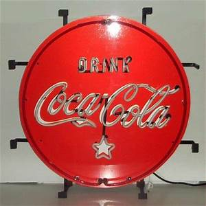 Coca Cola Red White & Coke Neon Sign