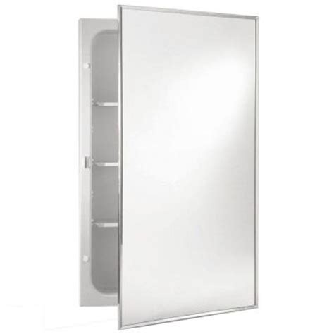 16 X 20 Recessed Medicine Cabinet by Styleline 16 In W X 20 In H X 3 75 In D Recessed