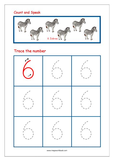 tracing numbers  counting  worksheets worksheets