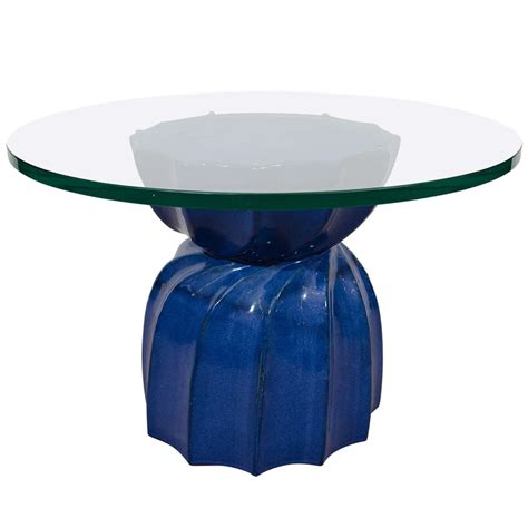 Furniture Round Transparent Glass Top Coffee Table With