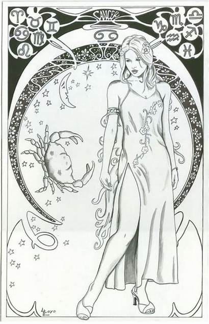 Coloring Pages Zodiac Adult Cancer Adults Signs