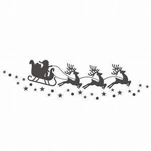 Weihnachtsmotive Schwarz Weiß : aufkleber fenster dekoration rentier schlitten mit sternen sch ne aufkleber ~ Buech-reservation.com Haus und Dekorationen