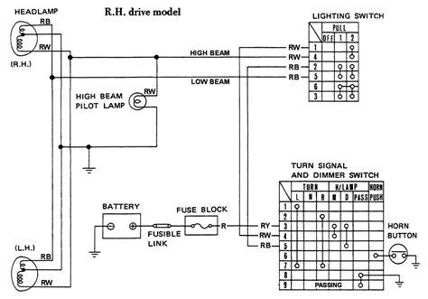 Headlight Circuit Wiring Rhd Datsun Club