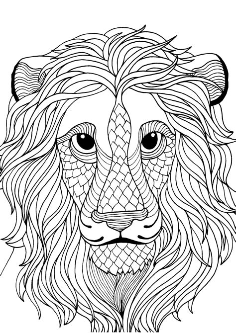 antistress lion coloring pages    print