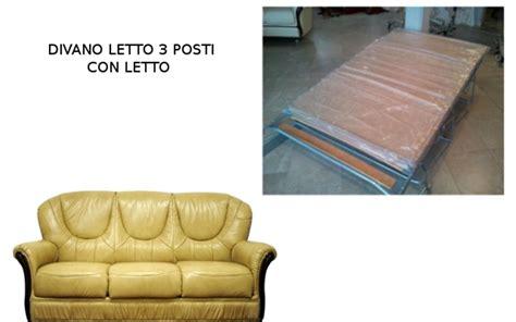 Divano Letto Classico Scorniciato 3 Posti Cm 185x90 H Cm