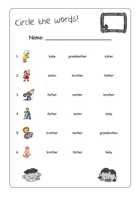 printable work sheets  kids  images english