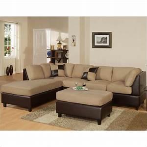Bobkona hungtinton microfiber faux leather 3 piece for 3 piece microfiber recliner sectional sofa
