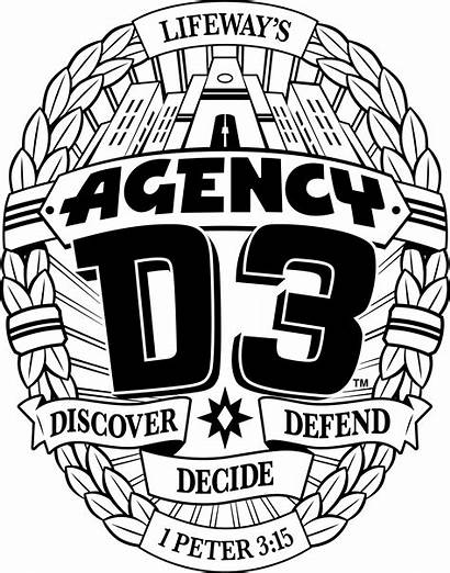 Agency D3 Vbs Spy Badge Coloring Clipart