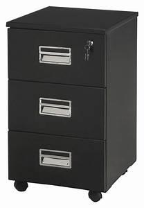 Caisson Rangement Bureau : caisson de bureau noir ~ Teatrodelosmanantiales.com Idées de Décoration