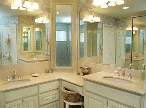 L Shaped Corner Bathroom Vanity by Master Bathroom Traditional Bathroom By Bry