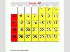 March 1962 Roman Catholic Saints Calendar