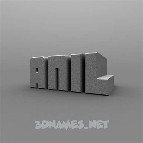 3d Anil Name Wallpapers Animations - preview of solid grey for name anil