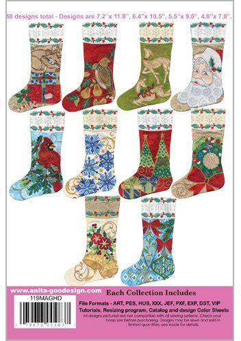 Anita Goodesign ~ Christmas Stockings 2 ~ Embroidery