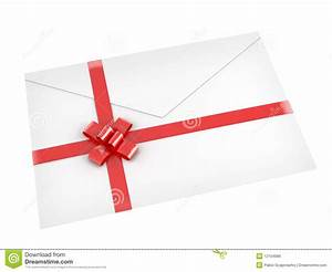 letter with red ribbon isolated on royalty free stock With letter with ribbon