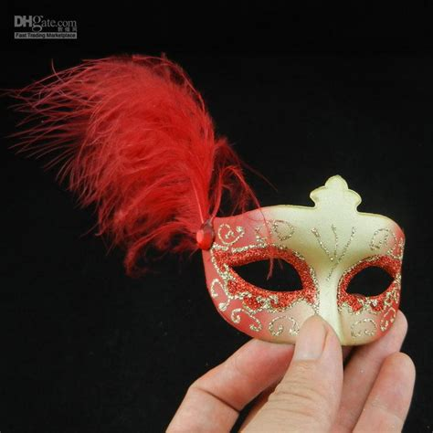 mini feather mask venetian masquerade party decoration
