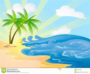 Beach On Sunny Day Royalty Free Stock Photos - Image: 25782708