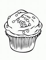 Cupcake Coloring Clipart Pages Sprinkles Clipground Square Cliparts sketch template