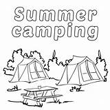 Camping Coloring Printable Camp Poster sketch template