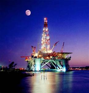 Working at an oil rig or gas platform