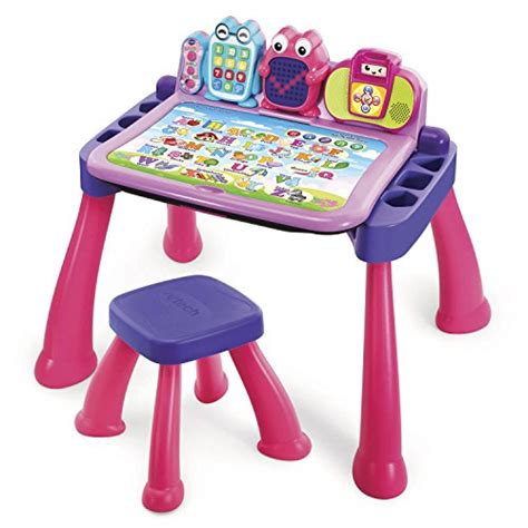 vtech learning activity desk vtech touch and learn activity desk deluxe pink new ebay