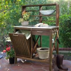 Folding Furniture At Target by Belham Living Winfield Acacia Wood Potting Bench Potting