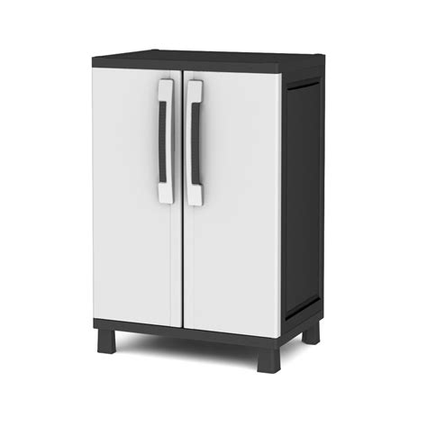 plastic storage cabinets lowes shop keter 25 in w x 38 in h x 17 in d plastic