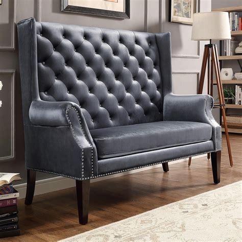 Traditional Settees by Crown Odina Traditional Settee Loveseat With Winged