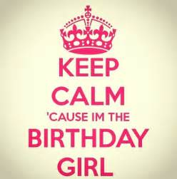 Girls Keep Calm Birthday Quote
