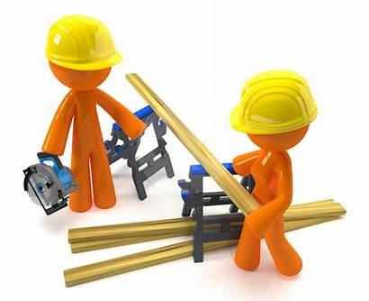 Clipart Contractor Project Building Construction Team Clip