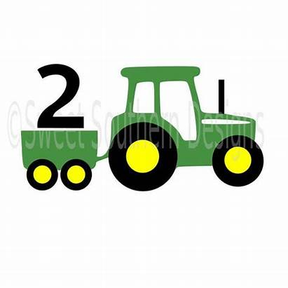 Tractor Birthday Wagon Svg 2nd Layered Cricut