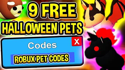 Bookmark this page, we will often update it with new codes for the game. *ROBUX* ADOPT ME CODES 2019 Free Halloween Pets! | Halloween Update (Roblox) - YouTube