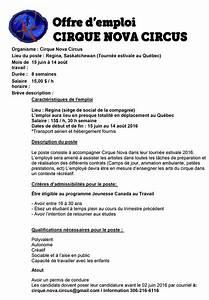Offre D Emploi Perpignan Pole Emploi : offre d 39 emploi cirque nova circus ~ Dailycaller-alerts.com Idées de Décoration