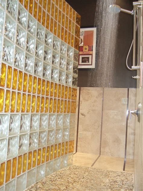 thinner glass block shower wall product saves money