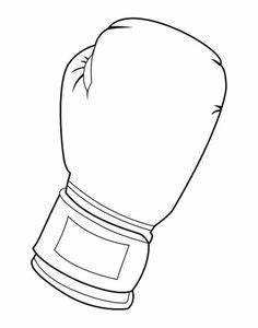 coloring pages of boxing gloves - boxing glove pattern use the printable outline for crafts