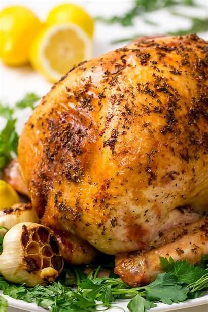 Turkey Roasted Rosemary Lemon Thanksgiving Juicy Golden