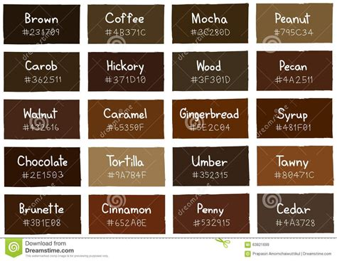 Brown Hair Color Names by Image Result For Color Names For Brown Brown Names