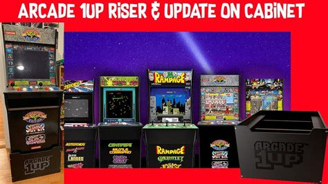 Arcade Cabinet Parts by Arcade 1up Riser Update On Cabinet Parts