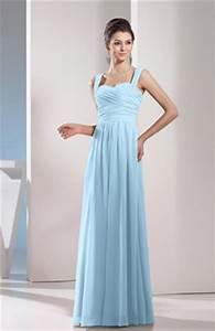 Ice blue long bridesmaid dress - All Pictures top