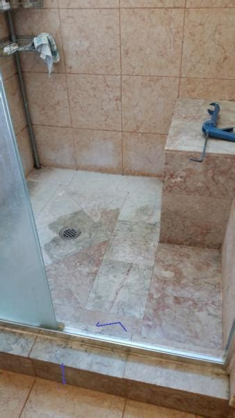 tile shower leaking through missing grout spots