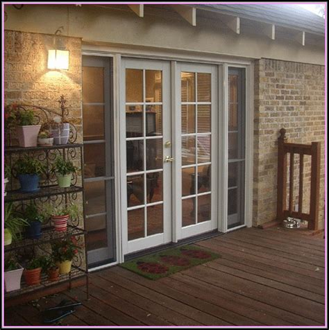 Swinging Patio Doors With Screens  Patios Home