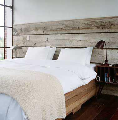 idees peinture chambre 10 astuces déco pas chères pour fabriquer une tête de lit lit en bois planches de bois et
