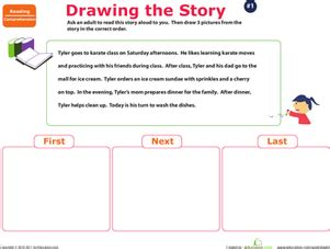 story sequencing tylers day worksheet educationcom