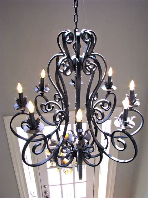 wrought iron lighting 12 best of large iron chandelier