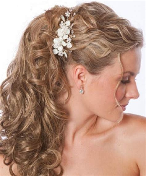 wedding hairstyles curly down with veil