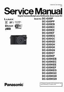 Panasonic Lumix Dc Gx9 Gx9k Gx9h Gx9p 4k Camera Service
