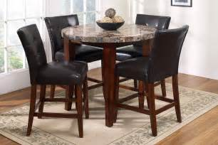 Marble Dining Room Sets For Sale by Montibello Round Pub Table 4 Stools